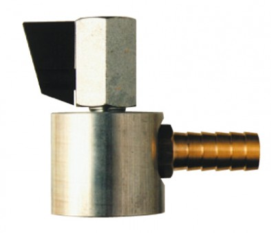 """Magnetic Base Metal Ball Valve and Hose Barb Connector 1/4"""""""